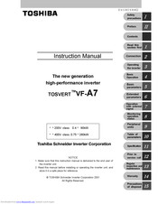 TOSHIBA TOSVERT VF-A7 Instruction Manual