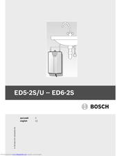 Bosch ED5-2S Instructions For Use Manual