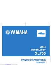 Yamaha XL700 WaveRunner 2001 Owner's/Operator's Manual