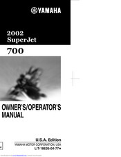 Yamaha 2002 SuperJet 700 Owner's/Operator's Manual