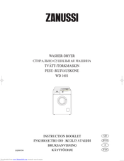 ZANUSSI WD 1601 Instruction Booklet
