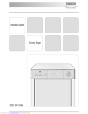 ZANUSSI ZDE 36150W Instruction Booklet