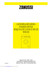 ZANUSSI WDS872 Instruction Booklet