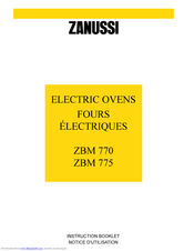 ZANUSSI ZBM770 Instruction Booklet