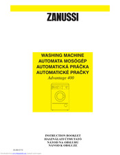 ZANUSSI ADVANTAGE400 Instruction Booklet