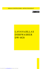 ZANUSSI DW 6826 Instruction Booklet