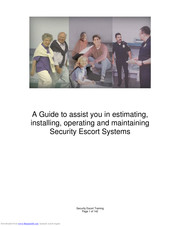 Bosch Security Escort SE2050 Installation, Operating And Maintenance Manual