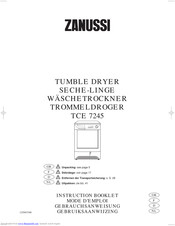 ZANUSSI TCE7245 Instruction Booklet