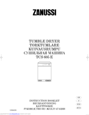 ZANUSSI TCS 605 E Instruction Booklet