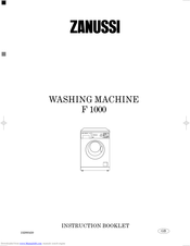 ZANUSSI AquaCycle 1000 Instruction Booklet