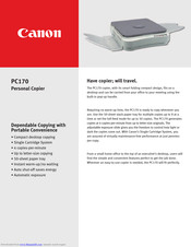 Canon PC170 Technical Information