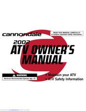 [SCHEMATICS_48YU]  CANNONDALE ATV OWNER'S MANUAL Pdf Download | ManualsLib | Cannondale Atv Wiring Schematic |  | ManualsLib