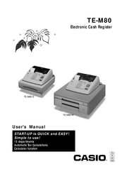 Casio TE-M80-S User Manual