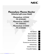 NEC PlasmaSync PX-61XM4G User Manual