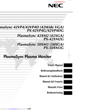 NEC PlasmaSync PX-42VP4DG User Manual
