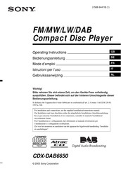SONY CDX-DAB6650 Operating Instructions Manual