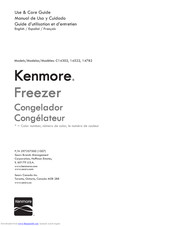 Kenmore 14782 Use & Care Manual