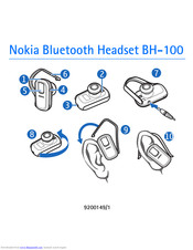 Nokia BH100 - Headset - Over-the-ear Manual