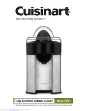 Cuisinart ccj-500 instruction booklet pdf download.