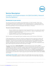 Dell SonicWALL Installation And Implementation