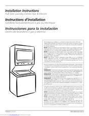 Frigidaire FGX831FS0 Installation Instructions Manual