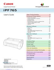 Canon imagePROGRAF iPF765 User Manual