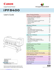 Canon imagePROGRAF iPF8400 User Manual