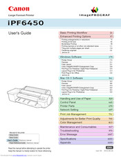 Canon imagePROGRAF iPF6450 User Manual