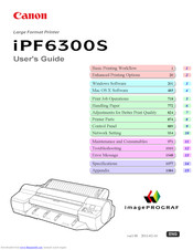 Canon imagePROGRAF iPF6300S User Manual