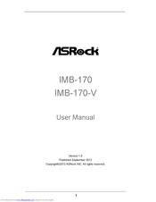 ASROCK IMB-170 USER MANUAL Pdf Download