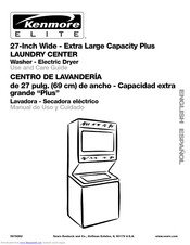 Kenmore Extra Large Capacity Plus LAUNDRY CENTER Use And Care Manual