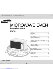 SAMSUNG MW73E Owner's Instructions Manual