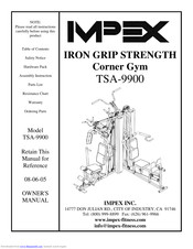 Impex IRON GRIP STRENGTH TSA-9900 Owner's Manual