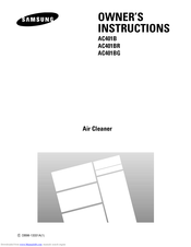 SAMSUNG AC401B Owner's Instructions Manual