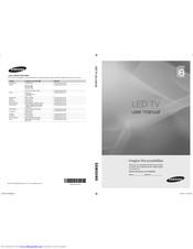 SAMSUNG UA32C6900 User Manual