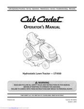 Cub Cadet Lt1050 Manuals Manualslib