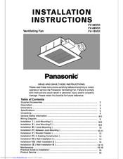 Panasonic Whisper Value Lite Fv 10vs1