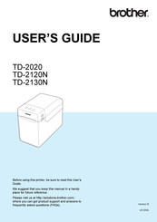 Brother TD-2020 User Manual
