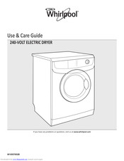 Whirlpool W10557652B Use & Care Manual
