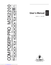 Behringer COMPOSER PRO MDX2200 User Manual