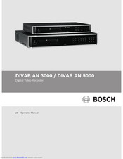 Bosch DIVAR AN 5000 Manual