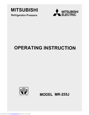 Mitsubishi Electric MR-255J Operating	 Instruction