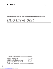 Sony SDT-S9000 - DDS Tape Drive Operator's Manual