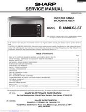 Sharp R 1880ls Service Manual Pdf