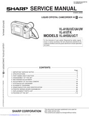 Sharp VL-A10UC Service Manual