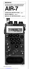 Sony AIR-7 Operating Instructions Manual