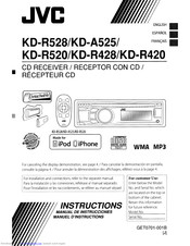 Jvc KD-R520 Manuals | ManualsLibManualsLib