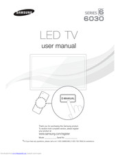 Samsung UN55FH6030 User Manual
