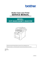 Brother MFC-9840CDW Service Manual