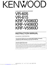 Kenwood KRF-V4060D Instruction Manual